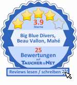 Rating badge with link to TaucherNet