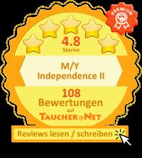 Bewertungen der M/Y Independence II auf taucher.net